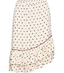 davina skirt knälång kjol creme second female