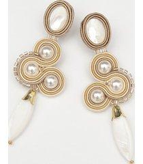 kolczyki ślubne z perłami - sutasz