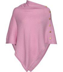 poncho gold buttons poncho regnkläder rosa davida cashmere