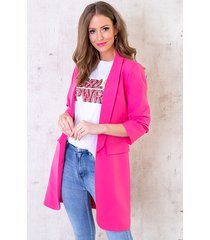 long blazer limited fuchsia