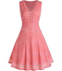 plus size lace high rise a line dress