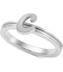 alex woo autograph letter ring in sterling silver