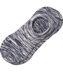 men's bombas space dye cushion no-show socks, size large - grey