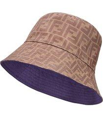 fendi reversible ff motif bucket hat - brown