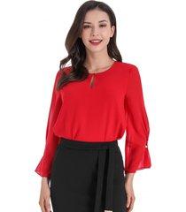 blusa detalle manga rojo nicopoly