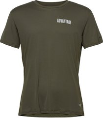 perf tee m night night t-shirts short-sleeved grön björn borg