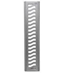 conjunto grelha e porta grelha em alumínio elegance 10x50cm alumínio
