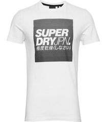 jpn block tee t-shirts short-sleeved vit superdry