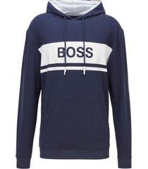 hugo boss logo hoodie - dark blue
