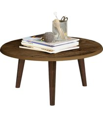 mesa de centro brilhante madeira rústica móveis bechara marrom