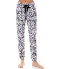 roudelain printed jogger pajama pants