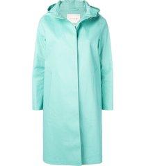 mackintosh cascade bonded cotton hooded coat lr-021 - green