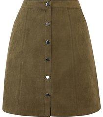faux suede popper skirt