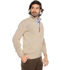 sweater khaky 20 preppy m/l c/alto abierto cremallera tej medio