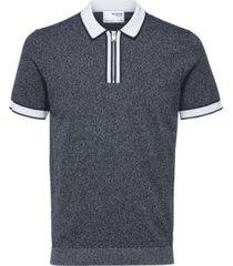 men's knit polo shirt