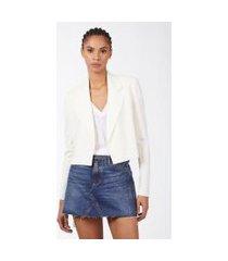 blazer cropped amarração cintura off white