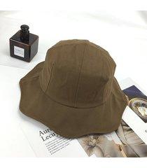 cubo cubo sombrero para el sol mujeres floppy sombreros de algodón ala