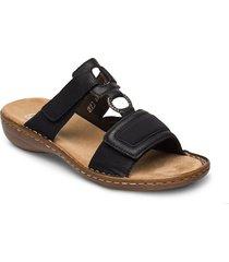 608n9-00 shoes summer shoes flat sandals svart rieker