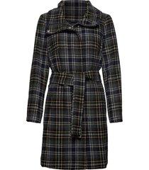 zeolaiw zip coat wollen jas lange jas grijs inwear