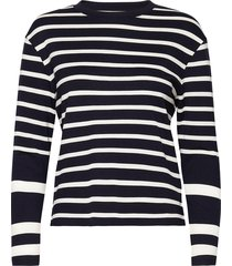 d1. detail breton stripe ls top t-shirts & tops long-sleeved blauw gant