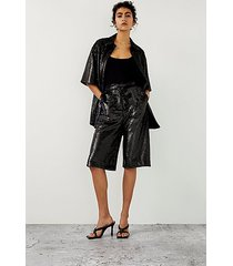 *black sequin bermuda shorts by topshop boutique - black