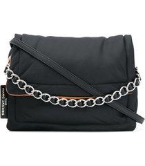 marc jacobs bolsa tiracolo com alça em corrente - preto