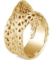 'classic chain tiga' 18k gold ring