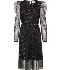 nubidelia dress knälång klänning svart nümph