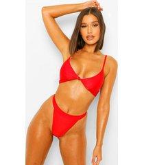 essentials geknoopte driehoek bikini met volle cup, rood