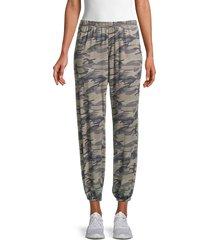 tiana b women's camouflage-print sweatpants - olive multicolor - size xl