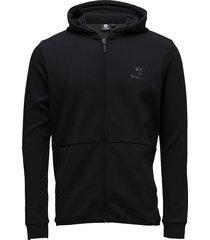 hmlguy zip hood hoodie trui zwart hummel