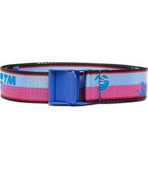 off-white jacquard logo industrial belt - blue