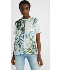 bimaterial tropical t-shirt - white - xxl