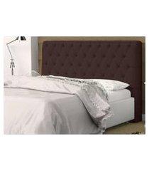cabeceira casal 140cm para cama box lady suede - ds móveis