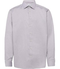 melange micro weave shirt - contemporary fit overhemd business paars eton