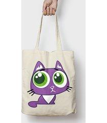 koszulka fioletowy kociak bag