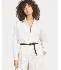 blusa mujer boyfriend fit broadcloth blanco polo