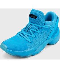 tenis basketball azul adidas performance