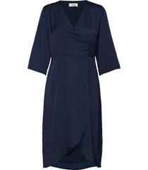 said dress jurk knielengte blauw modström
