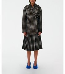costello liam plaid studded blazer