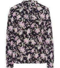 blouse van 100% zijde met lange mouwen van uta raasch multicolour