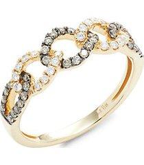 chocolatier 14k honey gold, vanilla diamonds® & chocolate diamonds® ring