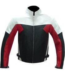 mens biker leather black red white biker leather jacket, biker jacket for mens