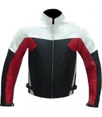 mens biker leather black red white biker leather jacket, biker jacket for mens