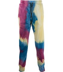 mauna kea tie-dye cotton track trousers - blue