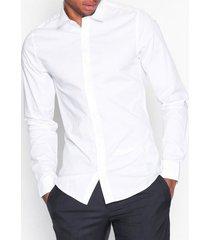only & sons onsalfredo ls shirt ex-slim noos t-shirts & linnen vit