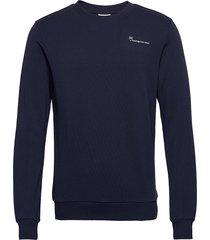 elm knowledgecotton sweat - gots/ve sweat-shirt trui blauw knowledge cotton apparel