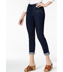 style & co petite cuffed jeggings, created for macy's