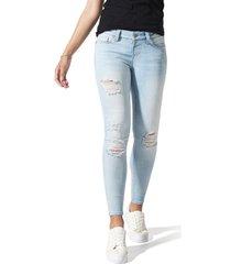 women's blanqi ripped postpartum/nursing skinny jeans, size 14 - blue