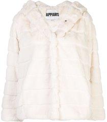 apparis goldie short faux-fur coat - white